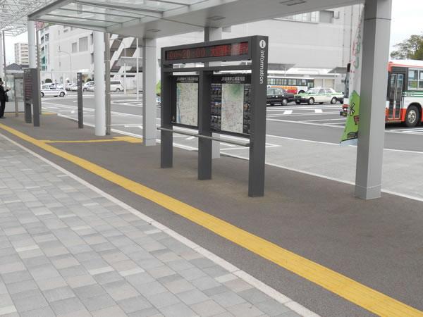 前橋駅北口歩道